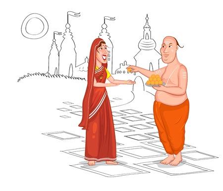 hindu temple: Brahmin Hindu couple of India