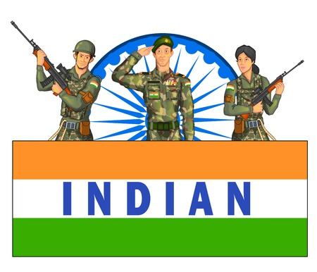 sergeant: Indian army showing victory of India