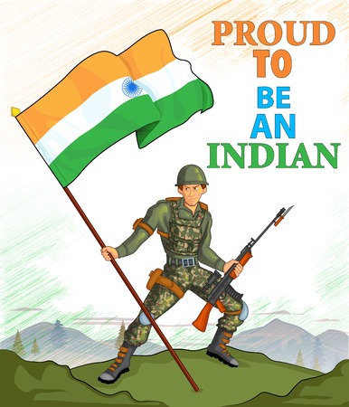 26th: Indian army showing victory of India Illustration