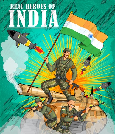 26th: Indian army showing victory of India