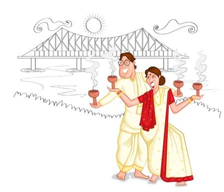 bengali: Dancing Bengali couple of India