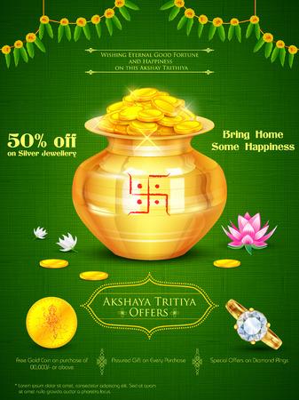 illustration of background for Akshay Tritiya celebration