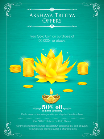 illustration of background for Akshay Tritiya celebration Stock Vector - 38790286