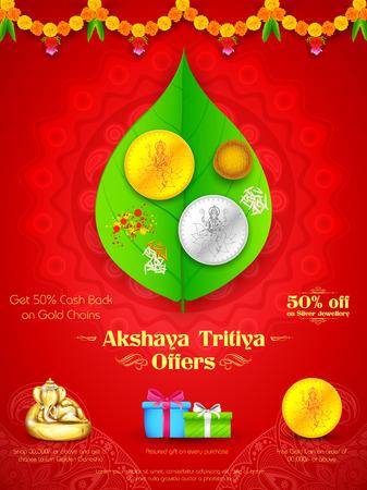 pooja: illustration of background for Akshay Tritiya celebration