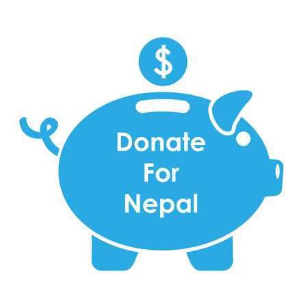 seismic: illustration of Nepal earthquake 2015 help and donation