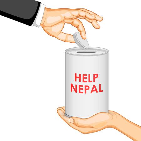 himalayas: illustration of Nepal earthquake 2015 help and donation