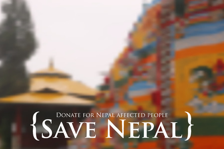 quake: illustration of Nepal earthquake 2015 help and donation