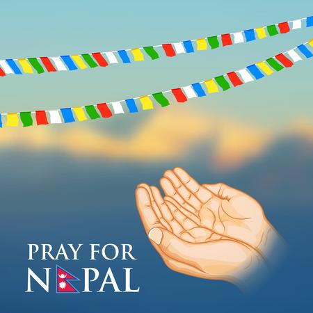 vibration: illustration of Nepal earthquake 2015 help and donation