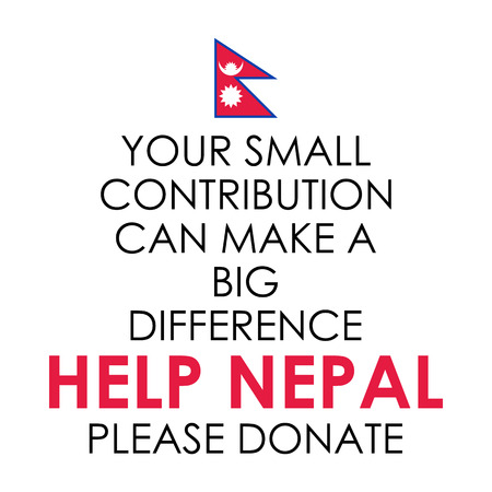 nepal: illustration of Nepal earthquake 2015 help and donation