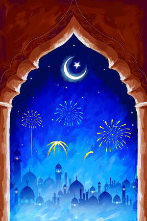 illustration of Ramadan Kareem (Generous Ramadan) background