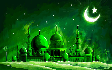 Muslim: illustration of Ramadan Kareem (Generous Ramadan) background