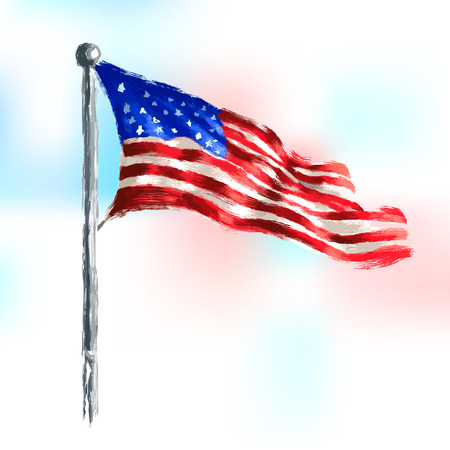 fourth: illustration of Fourth of July background for Happy Independence Day of America