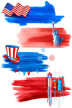 4th: illustration of Fourth of July background for Happy Independence Day of America