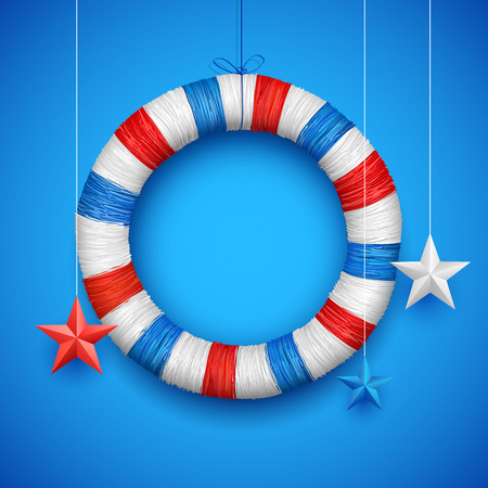 labour day: illustration of Fourth of July background for Happy Independence Day of America