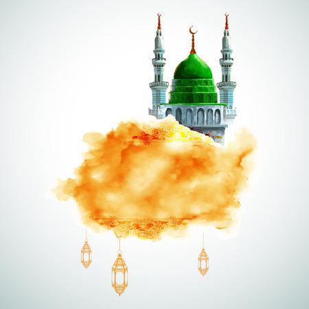 generoso: ilustraci�n del Ramad�n Kareem (Ramad�n Generoso) saludo