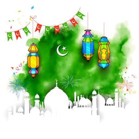 namaaz: illustration of Grungy Ramadan Kareem Background with mosque