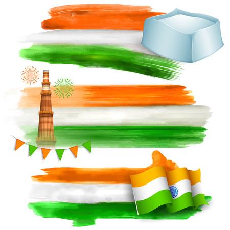 independencia: ilustraci�n de la India bandera para la venta y promoci�n
