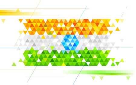 indische muster: Illustration der abstrakten Hintergrund in Indien tricolor Dreieck