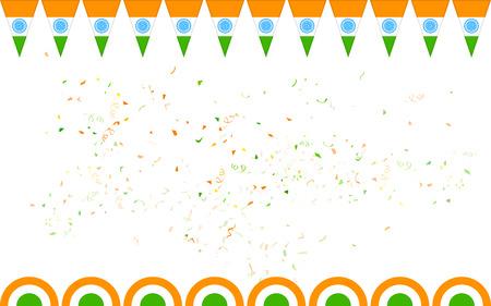 판매 및 홍보를위한 색 인도 배너의 그림