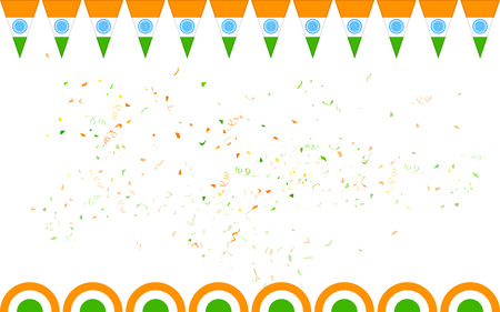 illustration of tricolor India banner for sale and promotion Illustration