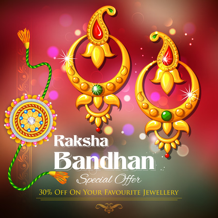 rakshabandhan: illustration of offer on jewelry for Raksha Bandhan