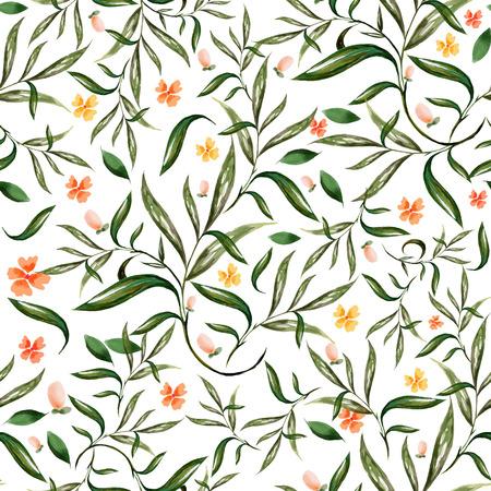 motif floral: illustration de l'aquarelle floral pattern