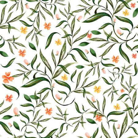 illustration of watercolor floral seamless pattern Ilustração