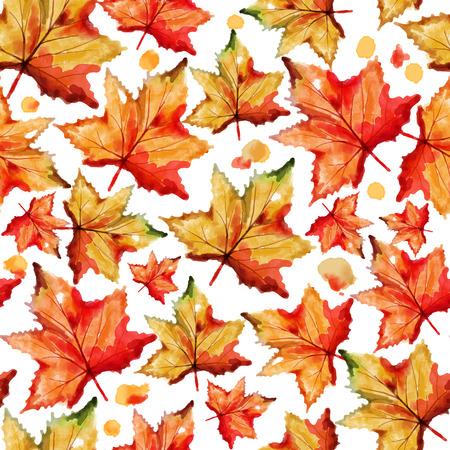 victorian vintage: illustration of watercolor floral seamless pattern Illustration