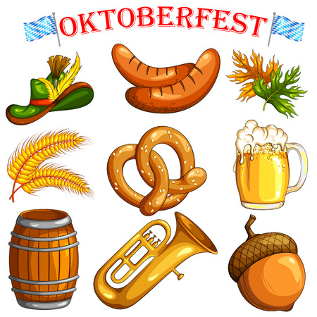 objects: illustration of design object for Oktoberfest