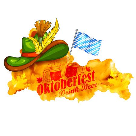 holiday invitation: illustration of Oktoberfest celebration background Illustration