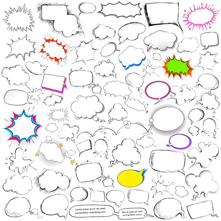 jumbo: illustration of comic style chat and speech bubble jumbo collection