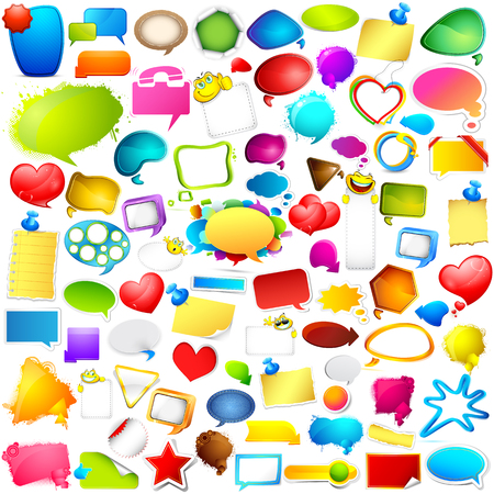 jumbo: illustration of Colorful Chat and Speech bubble jumbo collection Illustration
