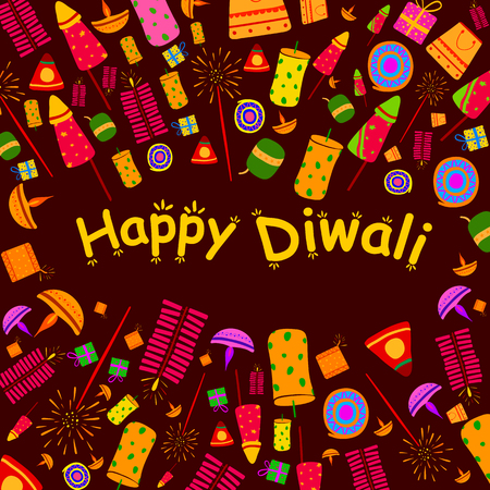 dipawali: Happy Diwali celebration background in vector Illustration