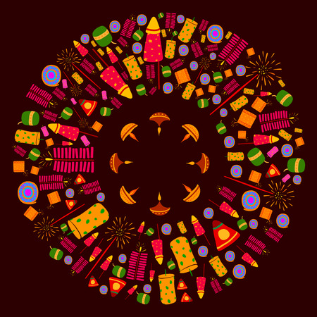 diwali celebration: Happy Diwali celebration background in vector Illustration