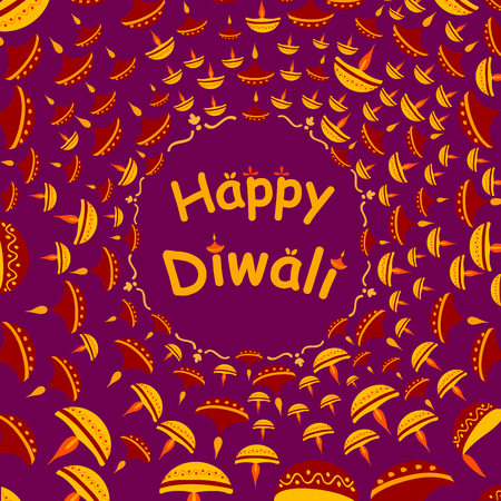 auspicious occasions: Happy Diwali celebration background in vector Illustration