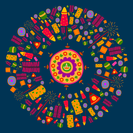 diwali: Happy Diwali celebration background in vector Illustration