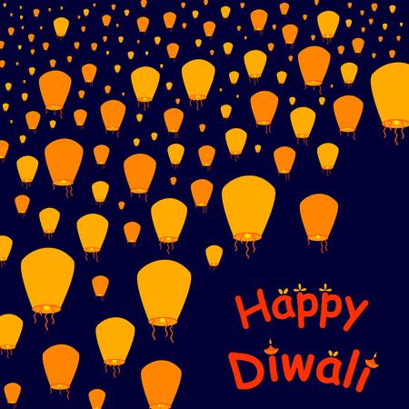 celebration background: Happy Diwali celebration background in vector Illustration