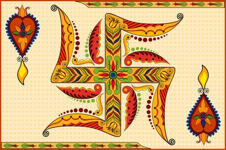 shubh diwali: illustration of Happy Diwali background with floral diya