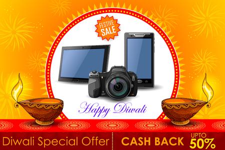 diwali celebration: illustration of Festive Shopping Offer for Diwali holiday promotion and advertisment