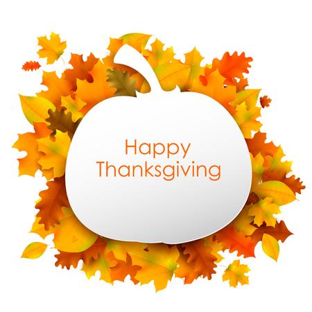 tarjeta de invitacion: Ilustraci�n de fondo de acci�n de gracias feliz con hojas de arce