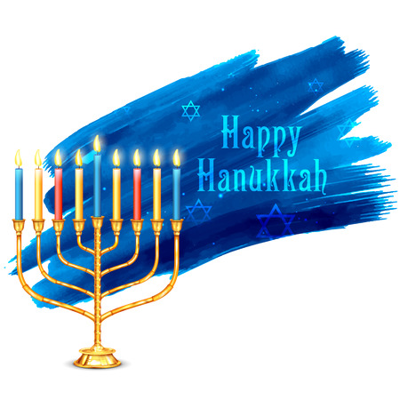 hannukah: illustration of Happy Hanukkah, Jewish holiday background
