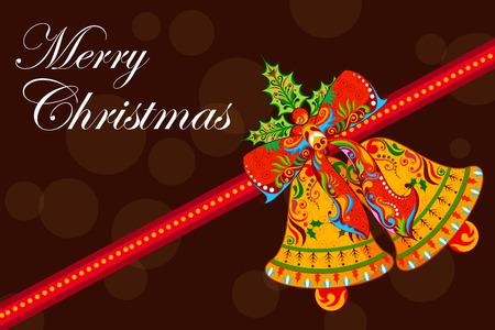 伝統: ジングルベルのクリスマス休日の背景に図
