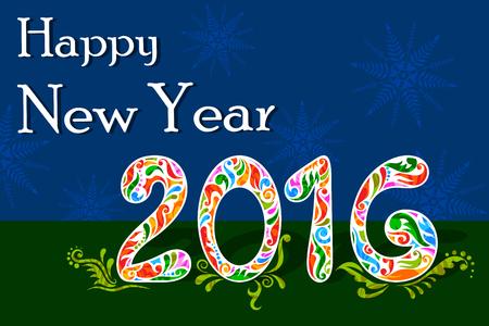 celebration background: illustration of Happy New Year celebration background