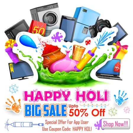 promotional: illustration of Holi promotional background for marketing Illustration