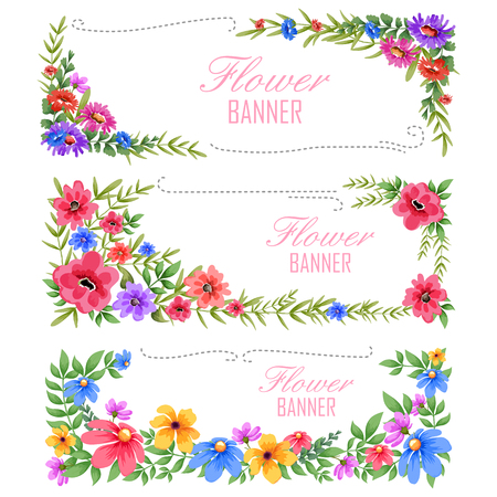 holiday invitation: illustration of watercolor Vintage floral frame Illustration