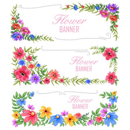 ilustración de la acuarela Marco floral de la vendimia