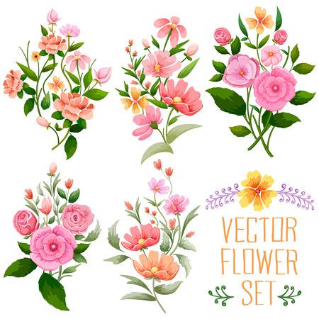 illustratie van aquarel Uitstekend bloemenframe
