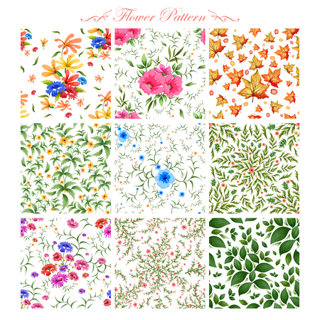 illustration editable: illustration of watercolor floral seamless pattern Illustration
