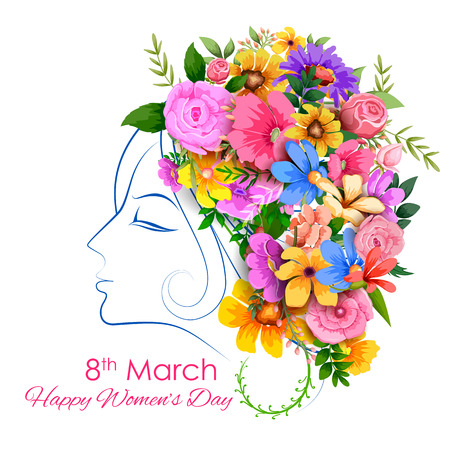 concept day: illustration of Happy Womens Day greetings background Illustration