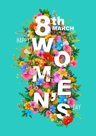 Abbildung des glücklichen Tag der Frau Grüße Hintergrund